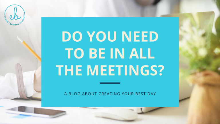 Do you need to be in ALL the meetings?